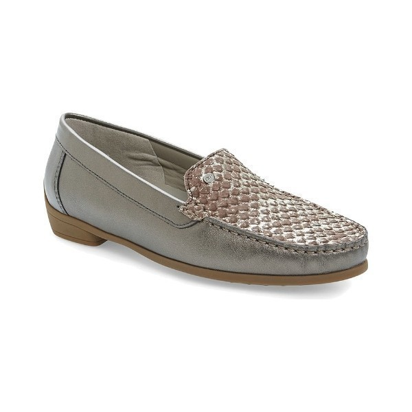 WOMEN'S BARB GUNMETAL/ALPACA DRESS LOAFER Thumbnail