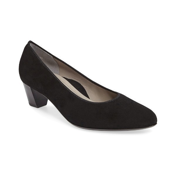 WOMEN'S KELLY BLACK SUEDE DRESS PUMP Thumbnail