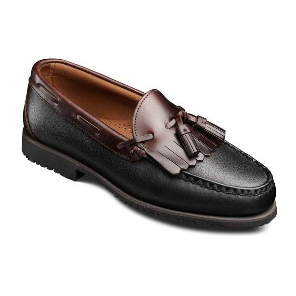 MEN'S NASHUA BLACK/BROWN DRESS SLIP-ON Thumbnail