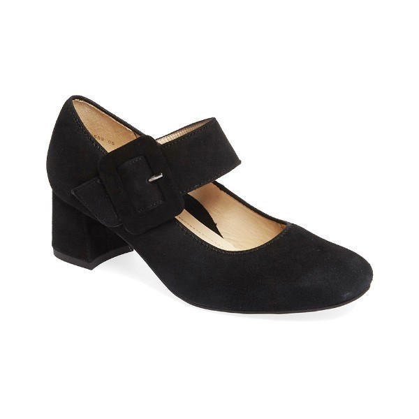 WOMEN'S BRIT BLACK SUEDE MARY JANE PUMP Thumbnail
