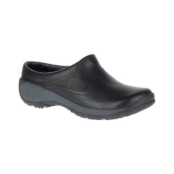 WOMEN'S ENCORE Q2 SLIDE BLACK LEATHER CLOG Thumbnail