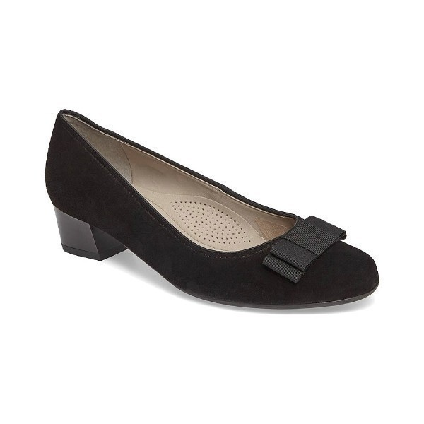 WOMEN'S NISHA BLACK SUEDE DRESS PUMP Thumbnail