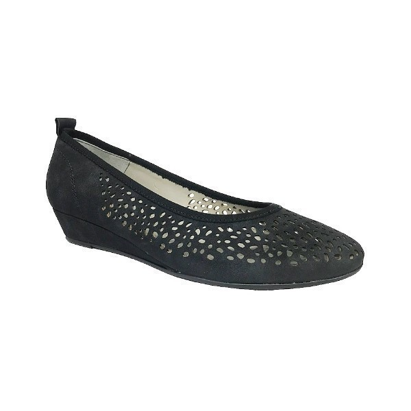 WOMEN'S LACY BLACK RUVIDO DRESS WEDGE Thumbnail