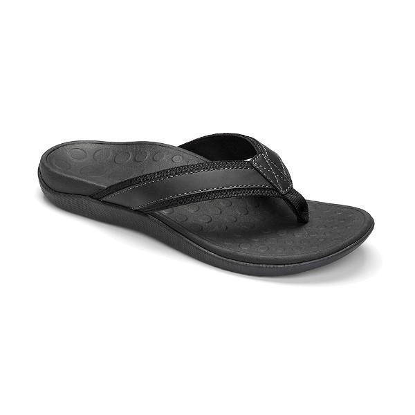 MENS TIDE BLACK SLIDE THONG SANDAL Thumbnail