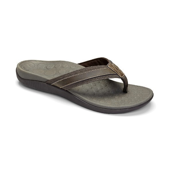 MENS TIDE BROWN SLIDE THONG SANDAL Thumbnail