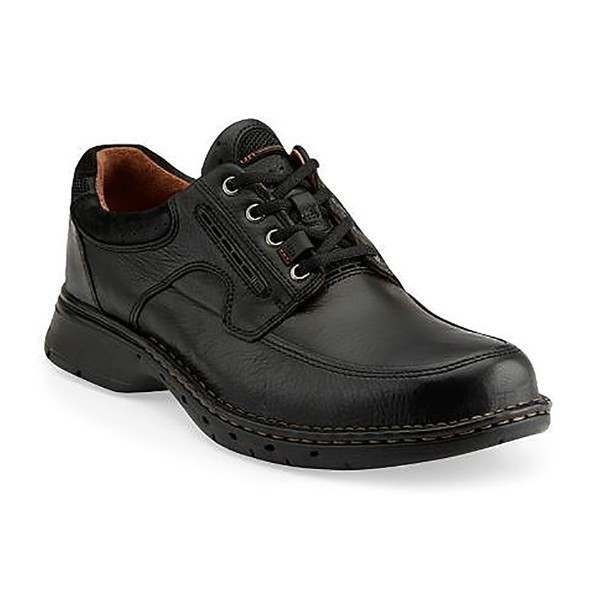 MEN'S UN.BEND BLACK LEATHER LACE CASUAL Thumbnail