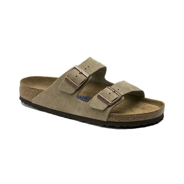 WOMEN'S ARIZONA SOFT FOOTBED TAUPE SUEDE Thumbnail