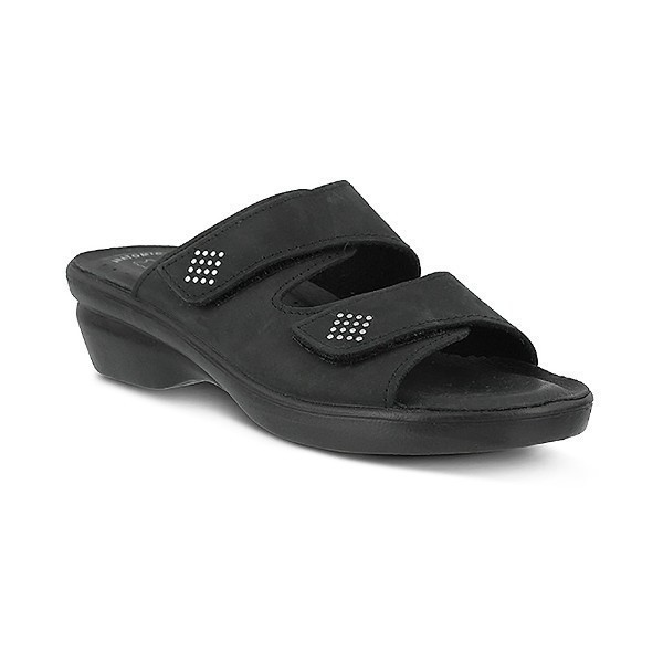 WOMEN'S FLEXUS ADITI BLACK SLIDE SANDAL Thumbnail