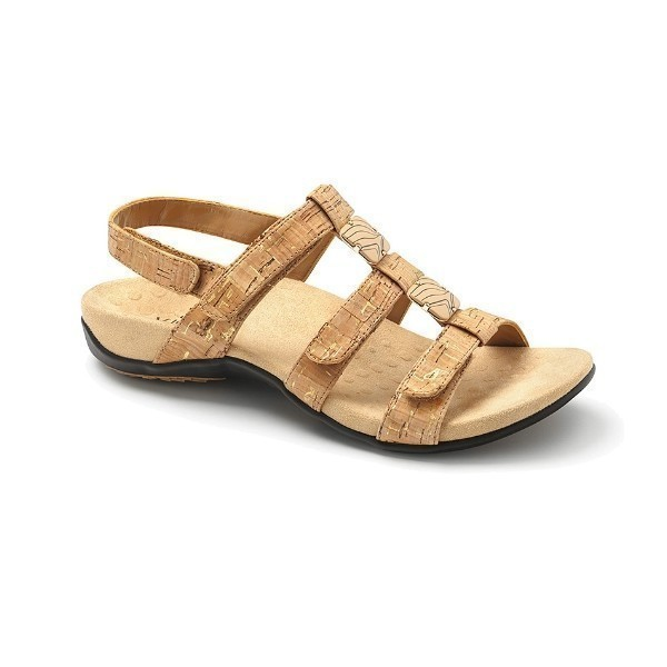 WOMEN'S AMBER GOLD CORK ADJUSTABLE SANDAL Thumbnail