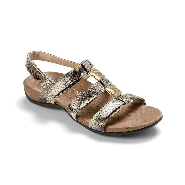WOMEN'S AMBER NATURAL SNAKE ADJUSTABLE SANDAL Thumbnail