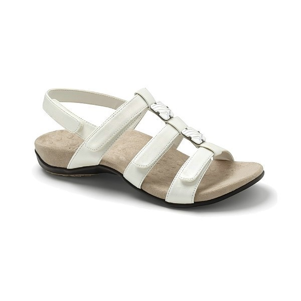 WOMEN'S AMBER WHITE SNAKE ADJUSTABLE SANDAL Thumbnail