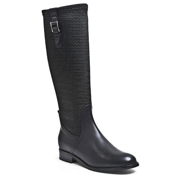 WOMEN'S ZABEL BLACK LEATHER TALL DRESS BOOT Thumbnail