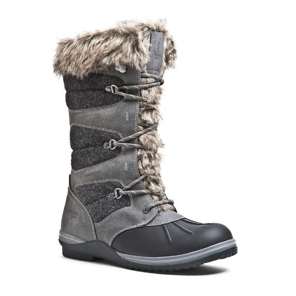 WOMEN'S SASHA GREY LEATHER/FELT WINTER BOOT Thumbnail