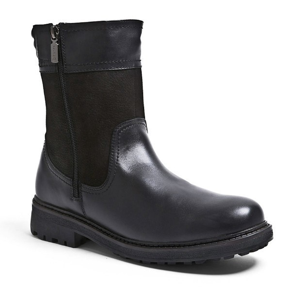 MEN'S JACKSON BLACK LEATHER DUAL ZIPPER BOOT Thumbnail