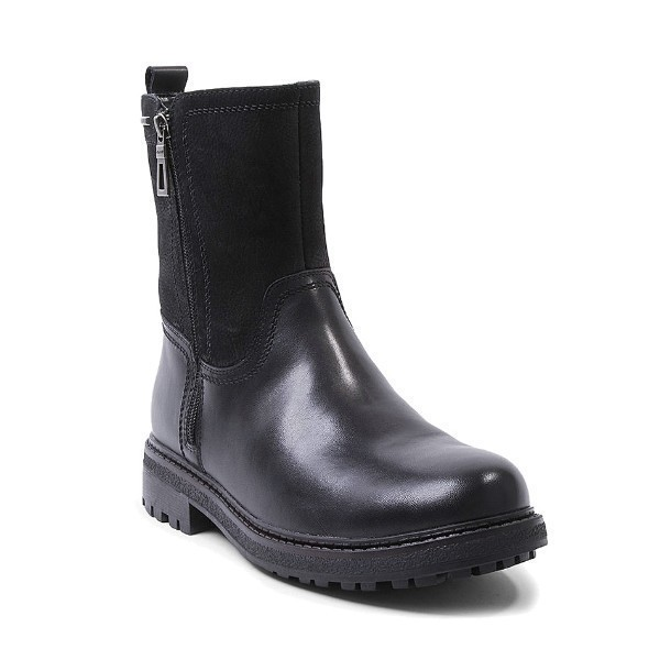 MEN'S JAGGER BLACK LEATHER DUAL ZIPPER BOOT Thumbnail