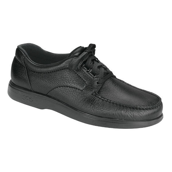 MEN'S BOUT TIME BLACK LEATHER CASUAL LACE Thumbnail