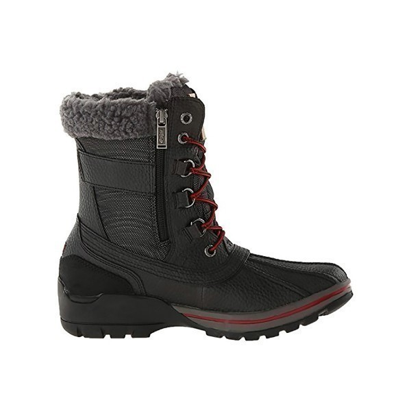 MEN'S BURMAN BLACK ZIP/LACE WINTER BOOT Thumbnail