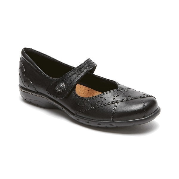 WOMEN'S PETRA BLACK LEATHER CASUAL MARY-JANE Thumbnail