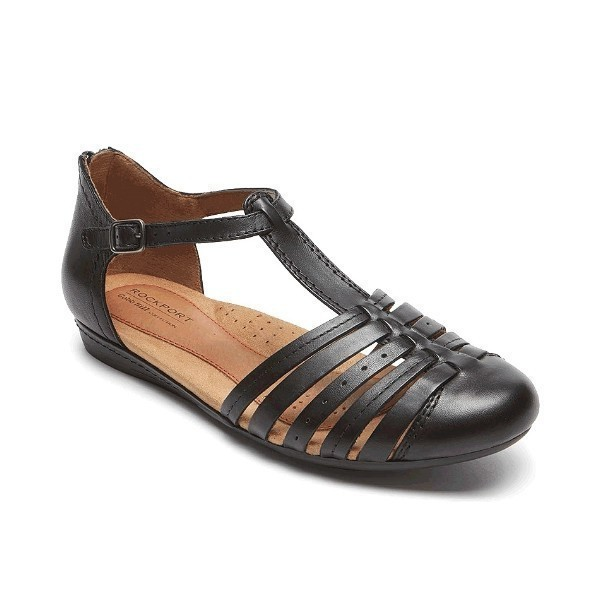 WOMEN'S GALWAY T-STRAP BLACK MULTI SHOE Thumbnail