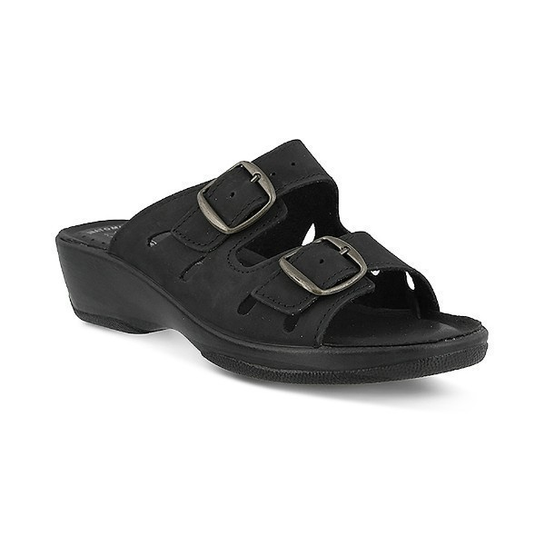 WOMEN'S FLEXUS DECCA BLACK SLIDE SANDAL Thumbnail