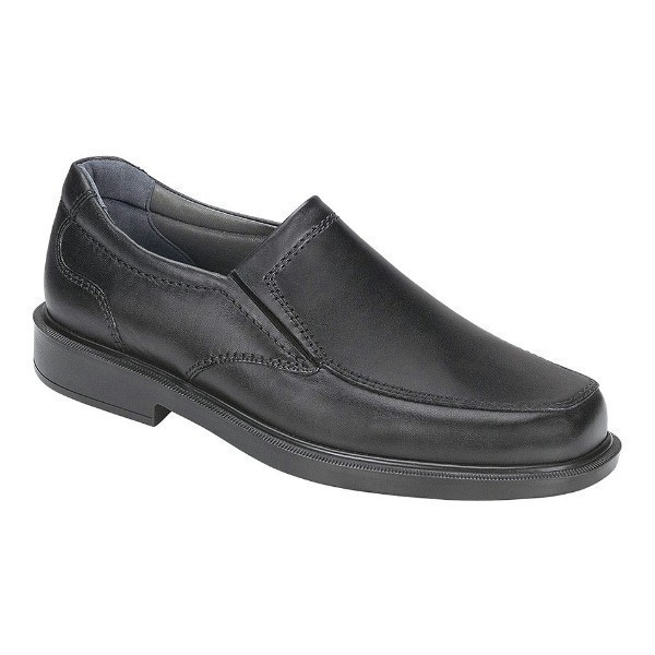 MEN'S DIPLOMAT BLACK LEATHER DRESS SLIP-ON Thumbnail