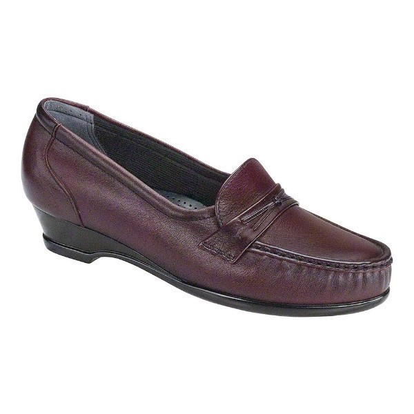WOMEN'S EASIER ANTIQUE WINE LEATHER WEDGE Thumbnail