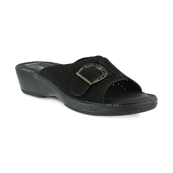 WOMEN'S FLEXUS EDELLA BLACK SLIDE SANDAL Thumbnail