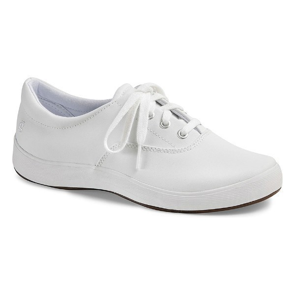 WOMEN'S JANEY WHITE LEATHER LACE UP SNEAKER Thumbnail