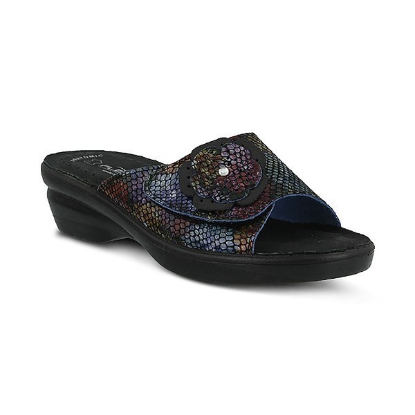 WOMEN'S FLEXUS FABIA BLACK MULTI SLIDE SANDAL Thumbnail