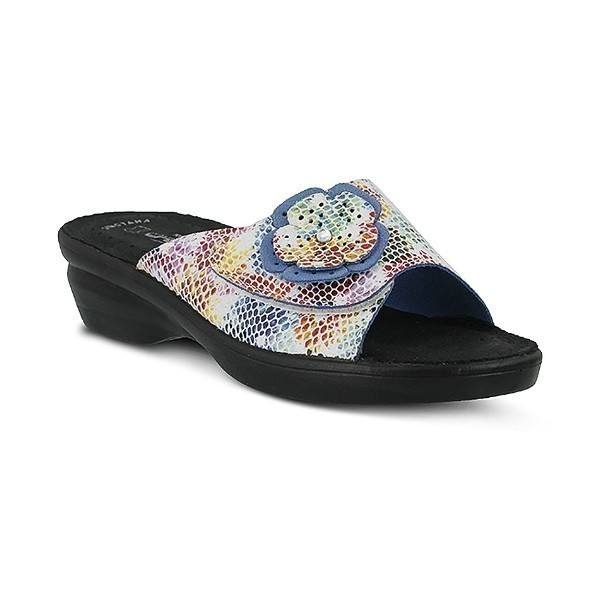 WOMEN'S FLEXUS FABIA WHITE MULTI SLIDE SANDAL Thumbnail