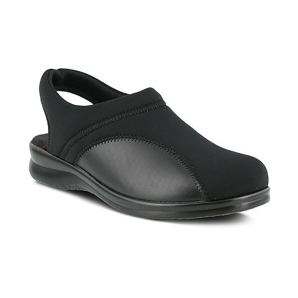 WOMEN'S FLEXUS FLEXIA BLACK SLING-BACK CLOG Thumbnail
