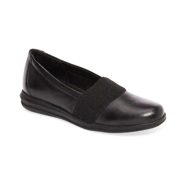 WOMEN'S HUGO BLACK LAMBSKIN CASUAL SLIP-ON Thumbnail
