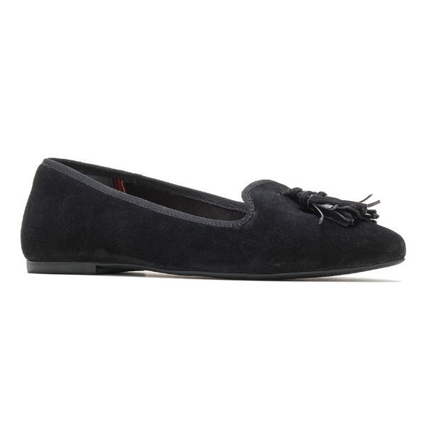 WOMEN'S SADIE TASSEL BLACK SUEDE SLIP-ON Thumbnail