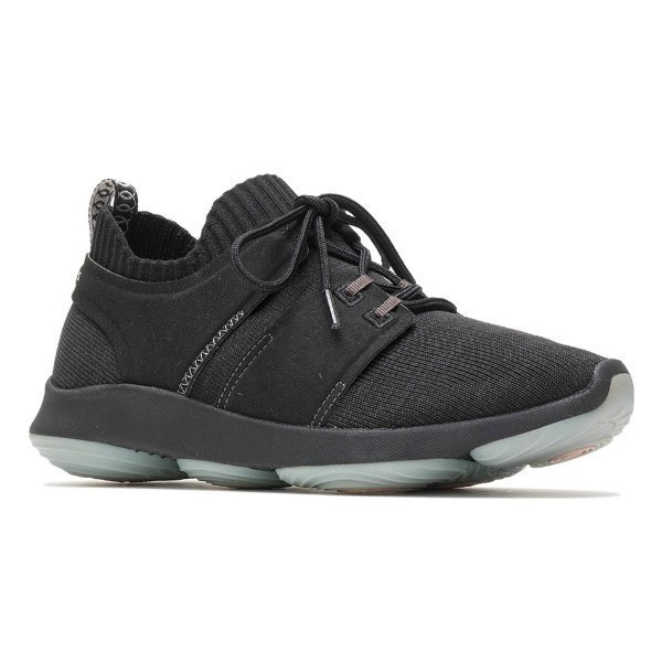 WOMEN'S WORLD BLACK KNIT SNEAKERS Thumbnail