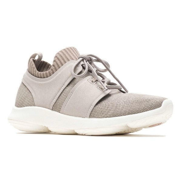 WOMEN'S WORLD GREY KNIT SNEAKERS Thumbnail