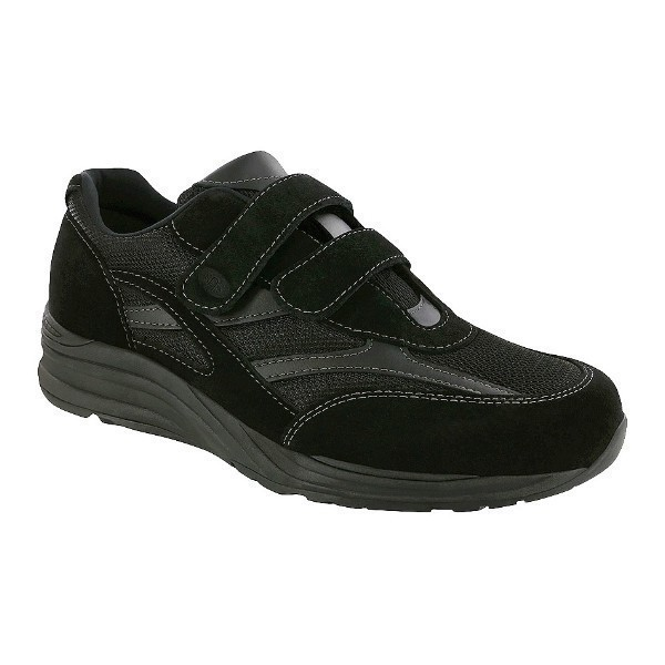 MEN'S J-V MESH BLACK HOOK-AND-LOOP SNEAKER Thumbnail