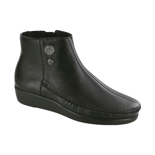 WOMEN S JADE BLACK LEATHER SHORT DRESS BOOT Thumbnail 787884a9ed