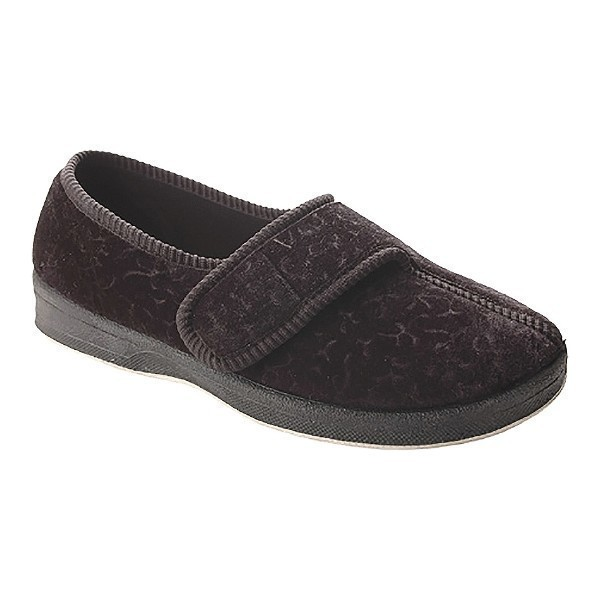 WOMEN'S JEWEL F.T. BLACK VELOUR SLIPPER Thumbnail