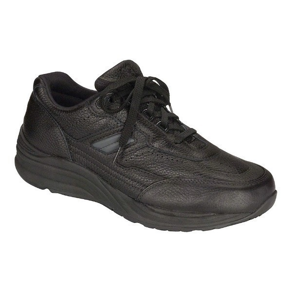 MEN'S JOURNEY BLACK LEATHER WALKING SNEAKER Thumbnail