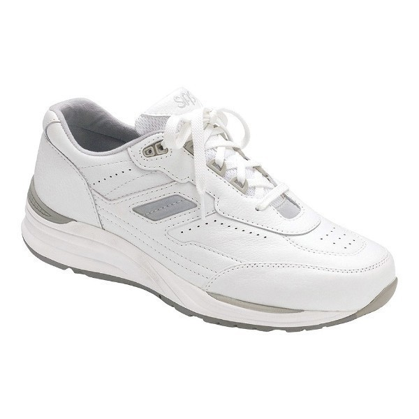 MEN'S JOURNEY WHITE LEATHER WALKING SNEAKER Thumbnail