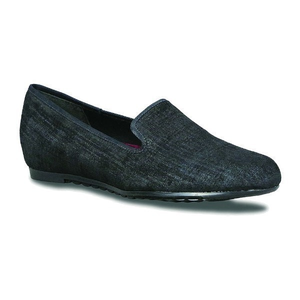 WOMEN'S BARB BLACK PRINTED METALLIC SLIP-ON Thumbnail