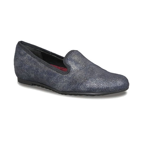 WOMEN'S BARB BLUE PRINTED METALLIC SLIP-ON Thumbnail