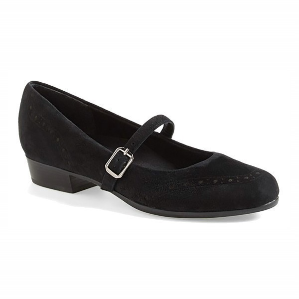 WOMEN'S WHITNEY BLACK SUEDE DRESS PUMP Thumbnail