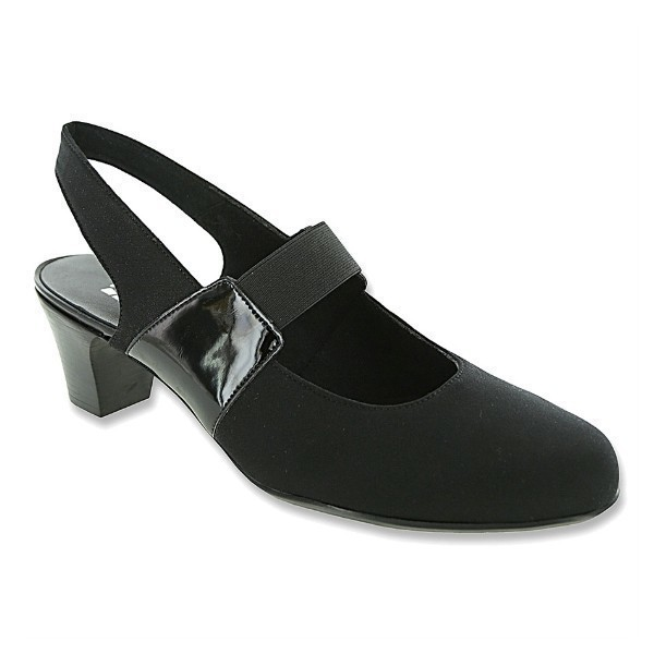 WOMEN'S ELLA BLACK FABRIC DRESS PUMP Thumbnail