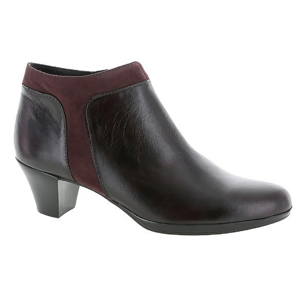 WOMEN'S HOPE WINE LEATHER/SUEDE DRESS BOOT Thumbnail