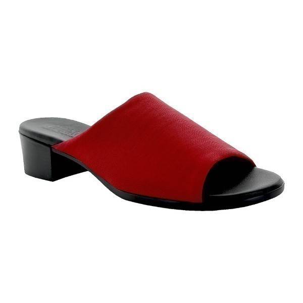 WOMEN'S BETH RED STRETCH SLIDE SANDAL Thumbnail