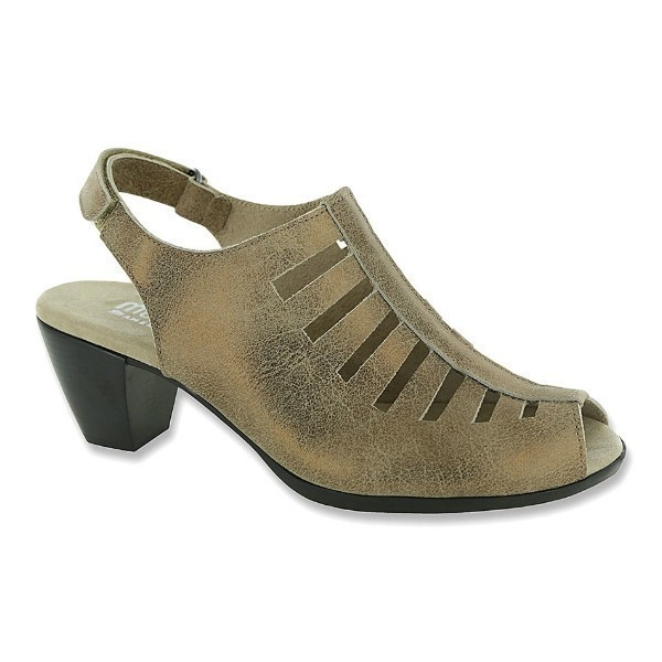 WOMEN'S ABBY GOLDEN TAUPE NUBUCK DRESS SANDAL Thumbnail