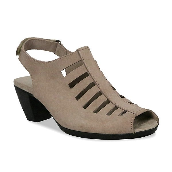 WOMEN'S ABBY TAUPE NUBUCK DRESS SANDAL Thumbnail