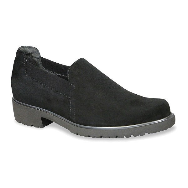 WOMEN'S BECCA BLACK SUEDE CASUAL SLIP-ON Thumbnail