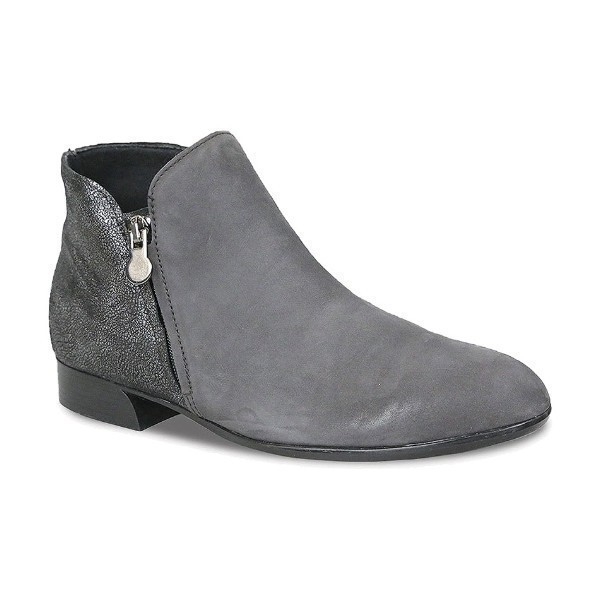 WOMEN'S AVEREE GREY NUBUCK COMBO ANKLE BOOT Thumbnail
